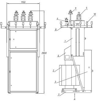 Мачтовые трансформаторные подстанции (КТПм)